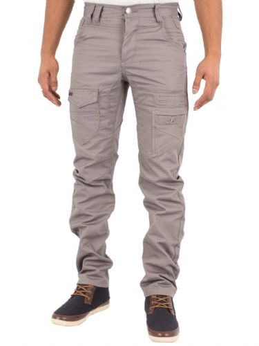 ETO EM537 New Men's Designer Straight Leg Tapered fit Grey Chino Twill Jeans